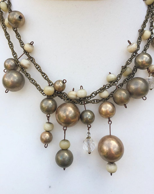 Brass and Bead Necklace