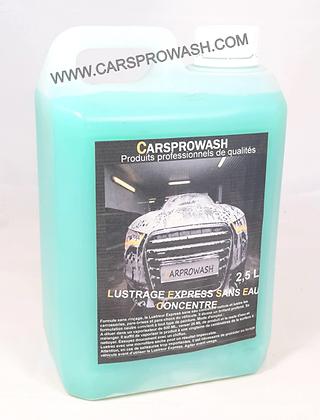 Lustrage express carrosserie sans eau bio concentré 2,5 L