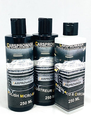 Polish micro-rayures 250 ML + Lustreur Ultime 250 ML + Renov Alu & Chrome 250 ML
