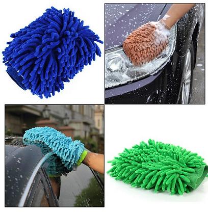 Gant microfibre nettoyage extérieur voiture