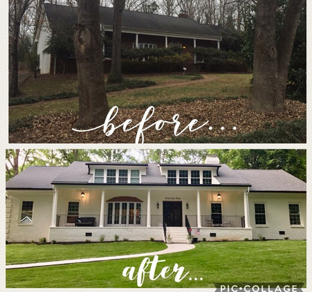 Front Exterior Before + After