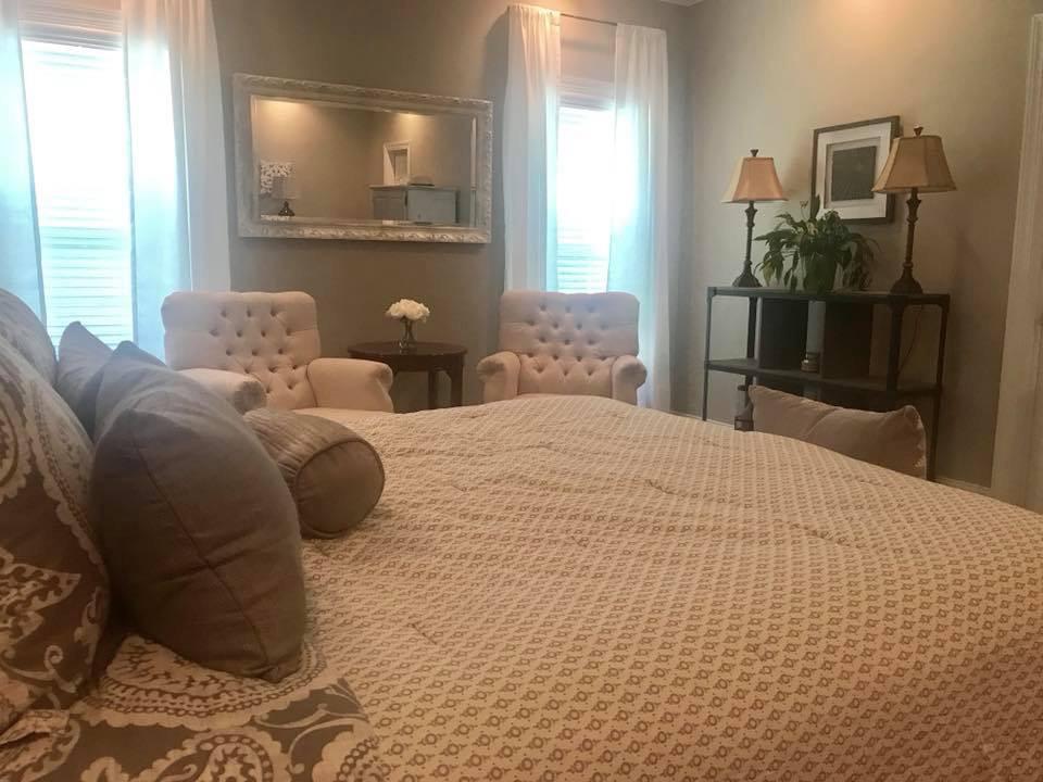 Belmont Master Bedroom + Sitting Area