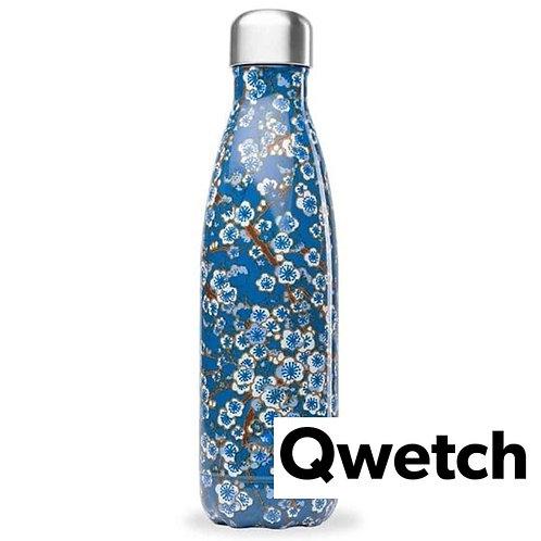 Gourde Qwetch  flowers bleu