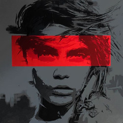 Cara (150x150 cm acrylic painting)__#new #paint #painting #drawing #art #artwork #modernart #contemp