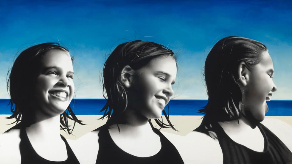 Three Taylors at the beach