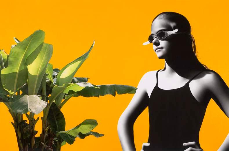 Beka with banana plant