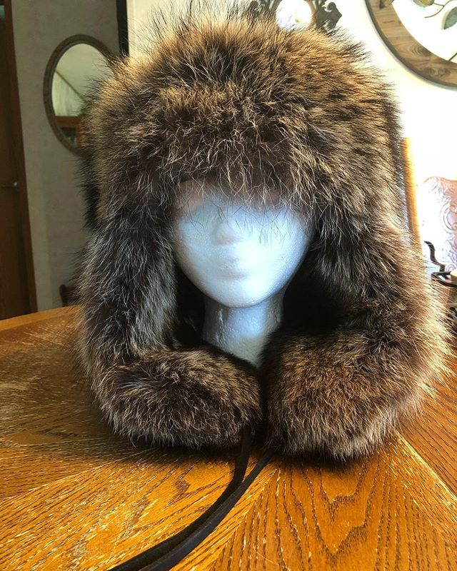 Heavy raccoon hat for sale.jpg $215 + shipping.jpg  Also now accepting credit cards.jpg