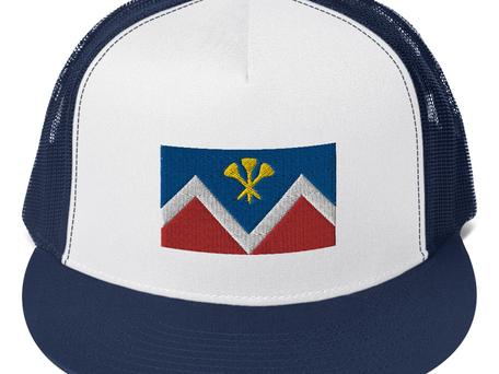 P&D Logo Mesh Sport Cap - Blue/White