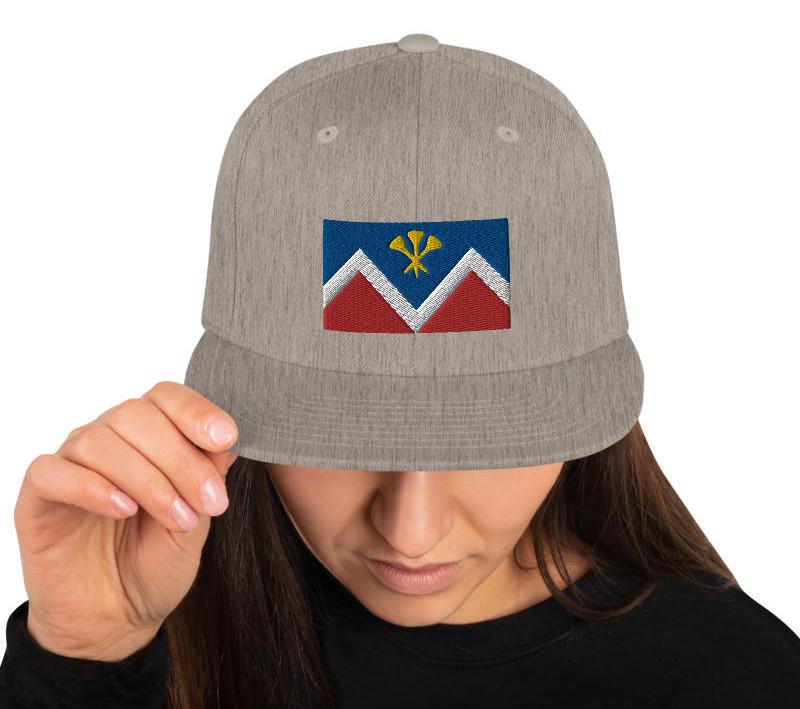 P&D Logo Snapback - Heather Gray