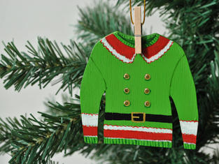 Elf Jumper Christmas Tree Decoration £7