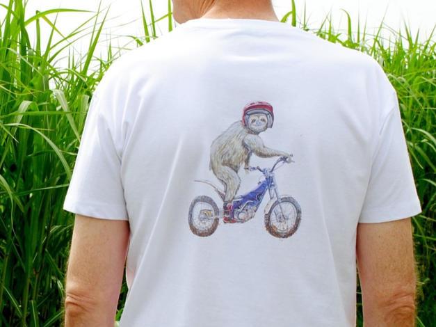 Unisex T-shirt, Sloth Riding a Trials Motorbike £25