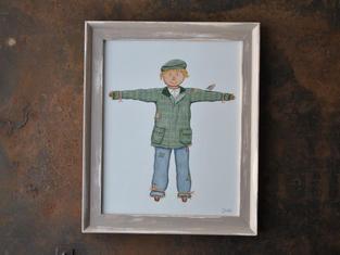 Scarecrow, Original Gouache Painting £45