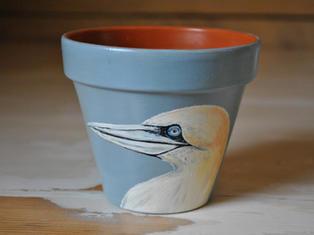 Gannet Hand Painted Pot £10