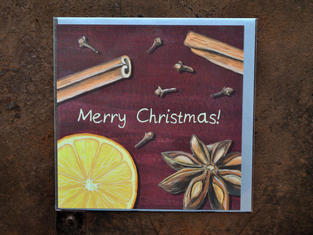 Mulled Wine Spices Card £2.30