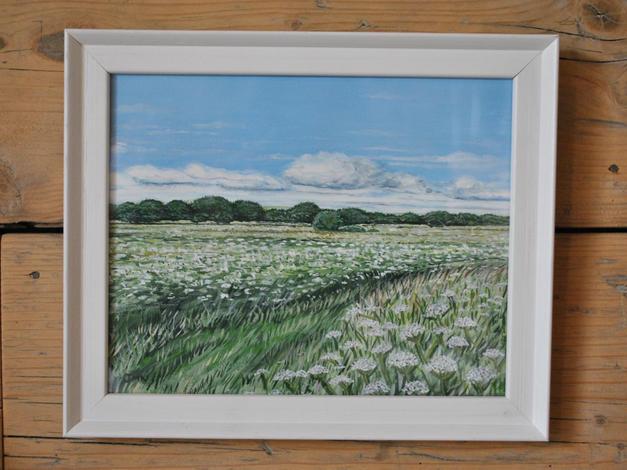 Cow Parsley, Shapwick Heath, Original Gouache Painting £80