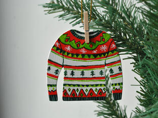 Fair Isle Jumper Christmas Tree Decoration £7