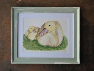 Call Ducklings, Original Gouache Painting £50