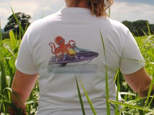 Unisex T-shirt, Octopus Jet Skiing £25