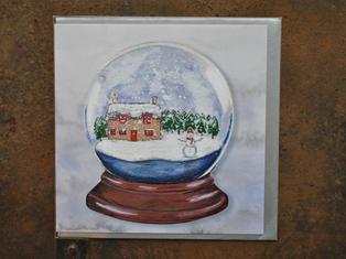 Snow Globe Christmas Card £2.30