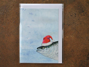 Santa Salmon Christmas Card £2.30