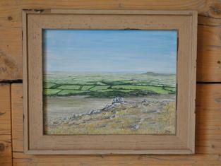 View from Crook Peak, Original Gouache Painting £85