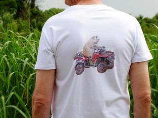 Unisex T-shirt, Pig Riding a Quad Bike £25