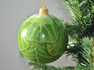 Hand Painted Brussel Sprout Bauble, Small £9, Large £12