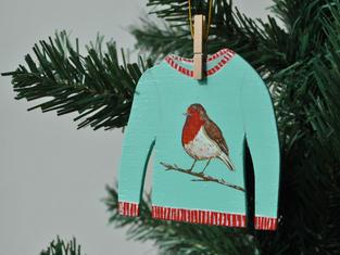 Robin Jumper Christmas Tree Decoration £7