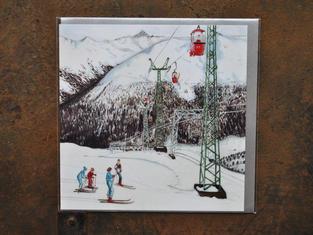Ski Scene Christmas Card £2.30
