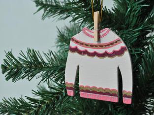 Pink Fair Isle Jumper Christmas Tree Decoration £7