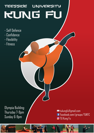Teesside University Kung Fu Poster