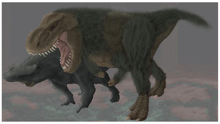 Rhino and Tyrannosaur