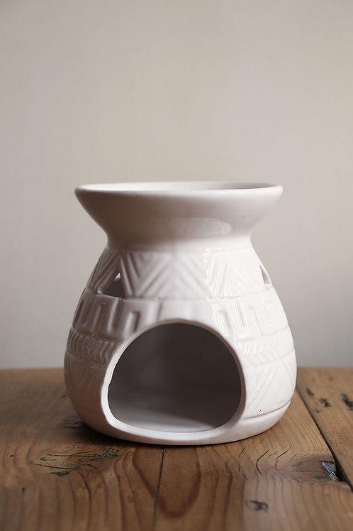 ceramic wax melt burner - white