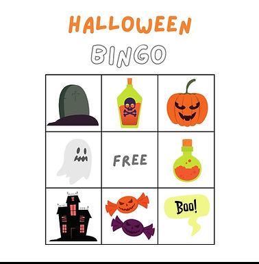 Halloween Musical Bingo