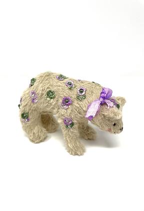 Petal - Miniature Handmade Vegan Teddy Bear