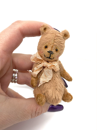 Phoebe - Miniature Handmade Vegan Teddy Bear