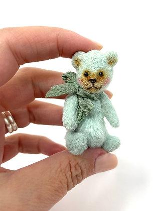 Herbie - Miniature Handmade Vegan Teddy Bear