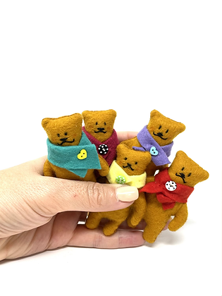 Wonky Pocket Teds - Miniature Handmade Vegan Teddy Bears