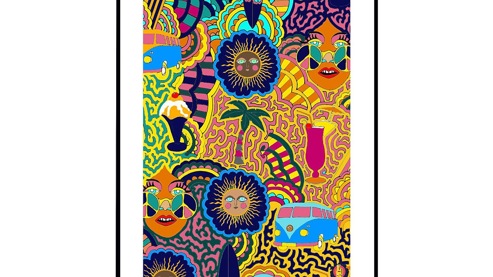 Hippie Holiday Wall Print