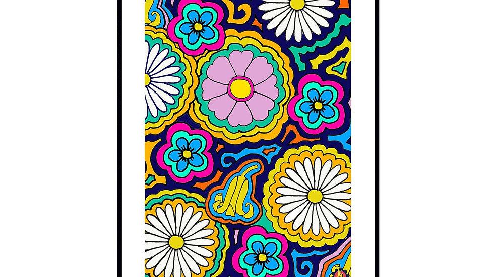 Flower Power Wall Print