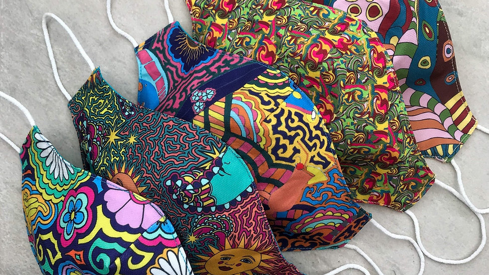 Handmade, Sustainably Printed Facemasks