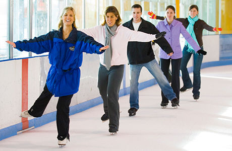 Adult skating class