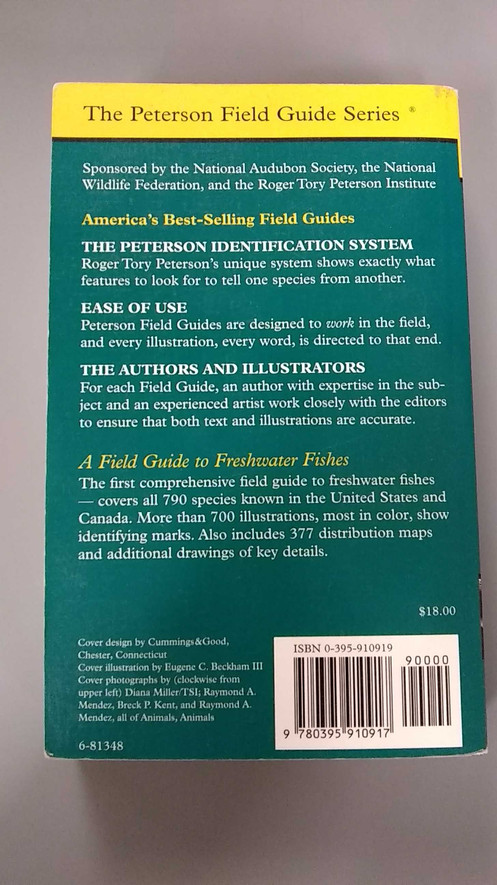 Peterson Field Guide to Freshwater Fishes - North America