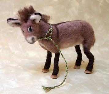 needle felted wool goat