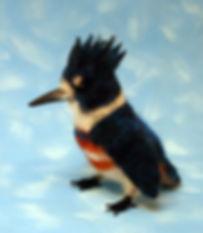 needle felted wool kingfisher bird