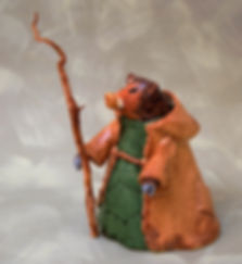 ceramic animal character figurine peccary traveler