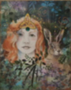 celtic woman and hair forest guides collage with drawings