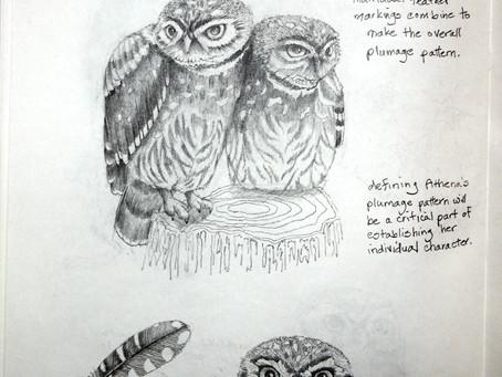 More Owls in my Sketchbook