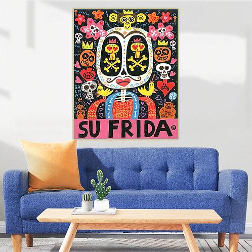 "Jorge Gutierrez ""Su Frida"" Canvas Oil Painting Replica"