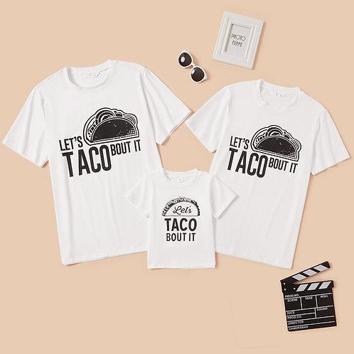 PatPat Taco Pattern T-Shirts
